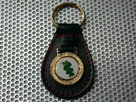 Alfa Romeo (Snake) Leather Keyring (Red stech)