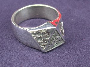 Alfa Romeo Sterling Silver AUTODELTA Ring.
