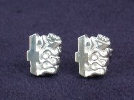 Alfa Romeo Sterling Silver Pierced Earrings