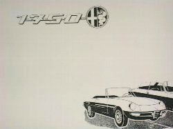 Alfa Romeo 1750 Spider veloce Parts Catalog(Body)