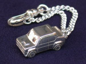 FIAT ABARTH 131 Rally Sterling Silver Keyring