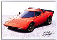 LANCIA Stratosイラストレーション by 林部研一