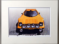 LANCIA Stratos Illustration by Kenichi Hayashibe