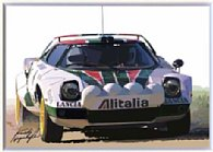 LANCIA Stratos ALITALIA Illustration by Kenichi Hayashibe