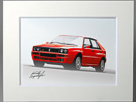 LANCIA Delta Integrale Evo1 (red)Illustration by Kenichi Hayashibe