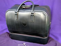 Masearti Blue Leather Travel Bag