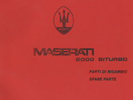 MASERATI BITURBO 2000 Parts Manual(Copy)