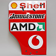 Scuderia Ferrari F2003GA Rear Wing End Plate