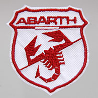ABARTH New Emblem Patch (White/Red)