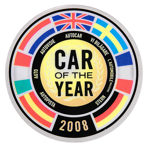 FIAT NEW 500 CAR OF THE YEAR Sticker