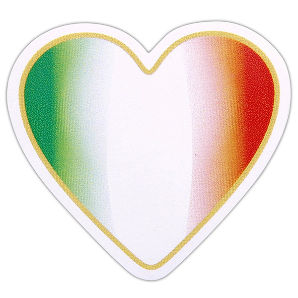 Heart Shaped Italian Flag Sticker