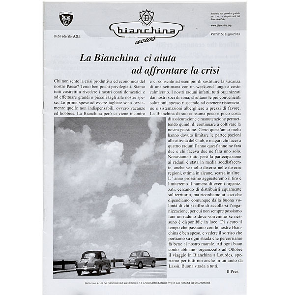 BIANCHINA 50 anni Leaflet by ASI