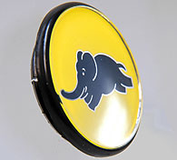 LANCIA Wheel Center Cap (Yellow/Blue Elephant)