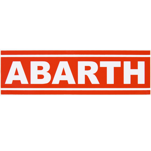 ABARTH Logo &amp; Stripe Sticker (Die-cut Type)<br><font size=-1 color=red>12/10到着</font>