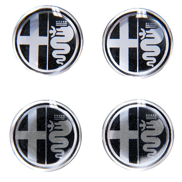 Alfa Romeo Emblem 3D Sticker (Mono Tone/21mm/4pcs.)