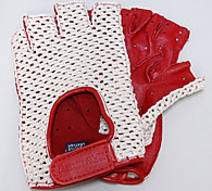 ABARTH FOUNDATION Official Driving Gloves (Red/Mesh/Half Type)