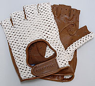 ABARTH FOUNDATION Official Drioving Gloves (Brown/Mesh/Half Type)