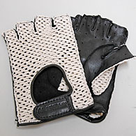 ABARTH FOUNDATION Official Driving Gloves (Black/Half Type)