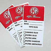 Alfa Romeo Maintenance Sticker (Set of 3pcs.)