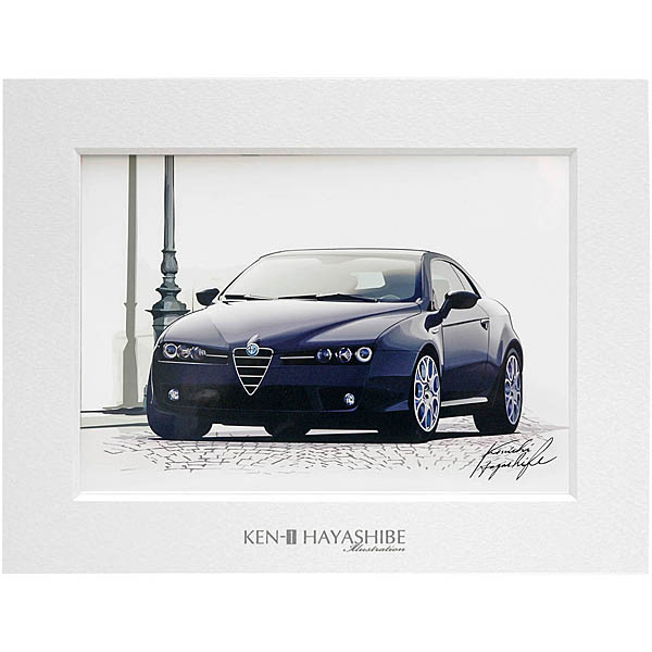 Alfa Romeo Brera illustration (Black) by Kenichi Hayashibe