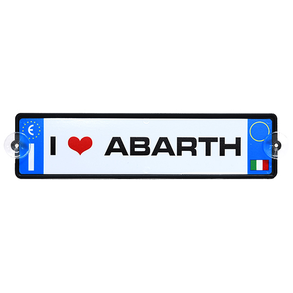 Italian Licence Plate Shaped I Love ABARTH Plate
