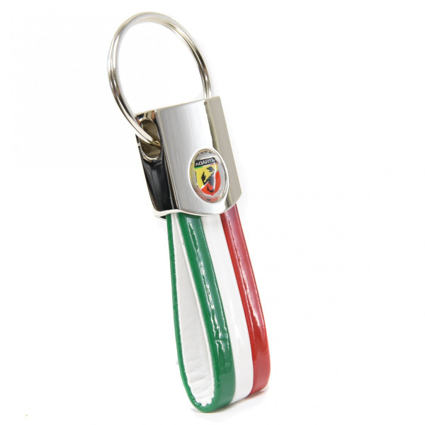 ABARTH Tri Color Keyring (Emblem Medal)
