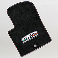 ABARTH 500 ABARTH ASSETTO CORSE Floor Mats (Black/LHD)