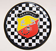 ABARTH Wheel Center Cap (Checker&Emblem/Large)