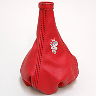 Alfa Romeo MiTo Leather Shift Boot (Red/BLACK Steach/Silver Snake)