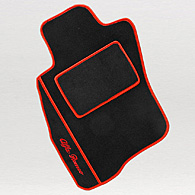 Alfa Romeo MiTo Floor Mats (Black/Red Piping/LHD)