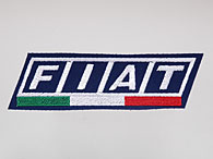 FIAT Logo & Italian Flag Patch (Navy Base)