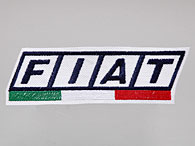 FIAT Logo & Italian Flag Patch (White Base)