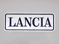 LANCIA Logo Patch (White Base/Blue Logo)