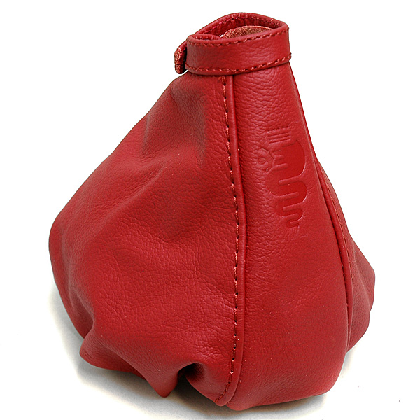 Alfa Romeo 159 Leather Hand Brake Boots (Red/Red Steach/Snake)