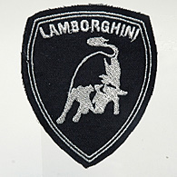 Lamborghini Emblem Patch (Black/Silver)