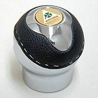 BLACK Gear Knob -TUNE IT CHROME- (Reverselock/Alfa Corse Emblem)