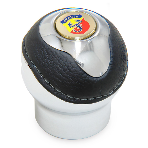 BLACK Gear Knob -TUNE IT CHROME- (Reverselock/ABARTH Emblem)<br><font size=-1 color=red>03/02到着</font>