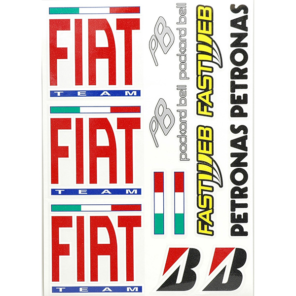 FIAT YAMAHA Sponsor Sticker Set