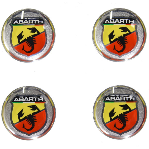ABARTH Newエンブレム3Dステッカー (12mm/4枚セット)<br><font size=-1 color=red>11/19到着</font>