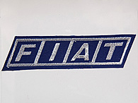FIAT Logo Patch (Navy/Silver Logo)