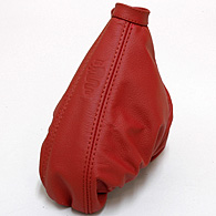 Alfa Romeo 156 Leather Hand-Brake Boots (Red/Red Steach/Snake)