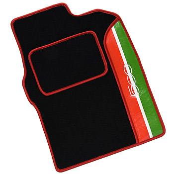 FIAT NEW 500 Floor Mat(Tricolor/Black/Red Piping/RHD)