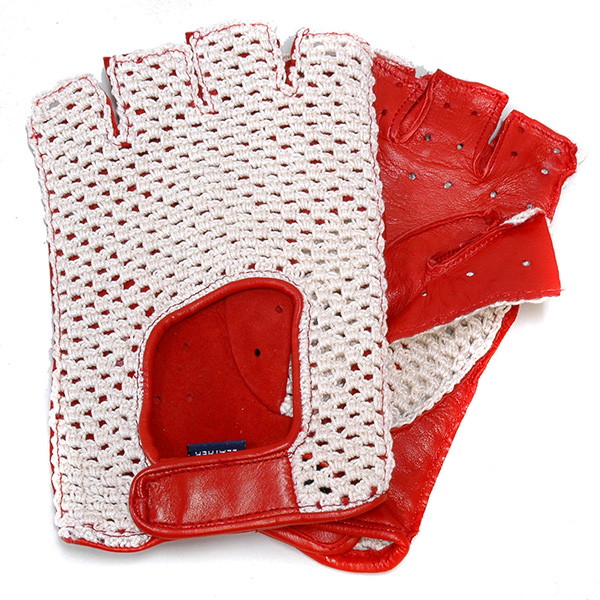 VICTORIA Driving Glove (Red/Mesh/Half)