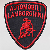 Automobili Lamborghini Emblem Patch (Black Base/Red Logo)