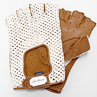 Alfa Romeo Driving Glove (Brown/mesh/half Type)