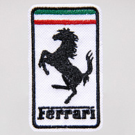 Ferrari Emblem Patch (White/48mm*82mm)