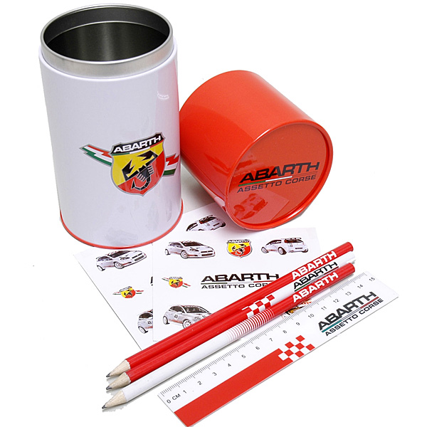 ABARTH Stationary Set (Pen Case/Pencil/Scal/Stickere)