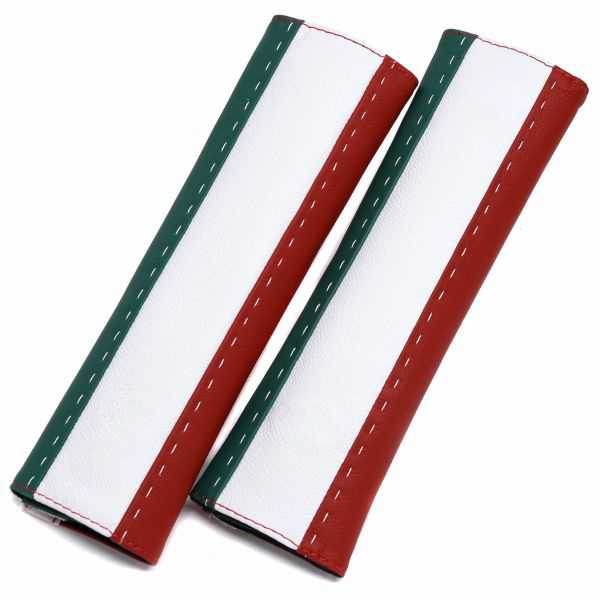 Leather Seatbelt Pad(Italian Tricolor)<br><font size=-1 color=red>02/22到着</font>