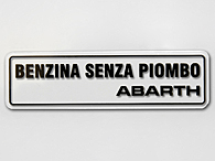 ABARTH Fuel Sticker
