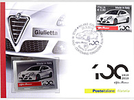 Alfa Romeo 100 anni POSTE ITALIANE POST CARD & STAMP Set